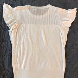 Banana Republic Flutter Sleeve Sweater XS White